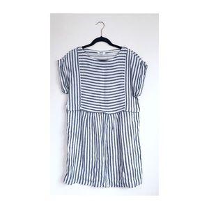 🌷• Striped Summer Linen Blend Dress •